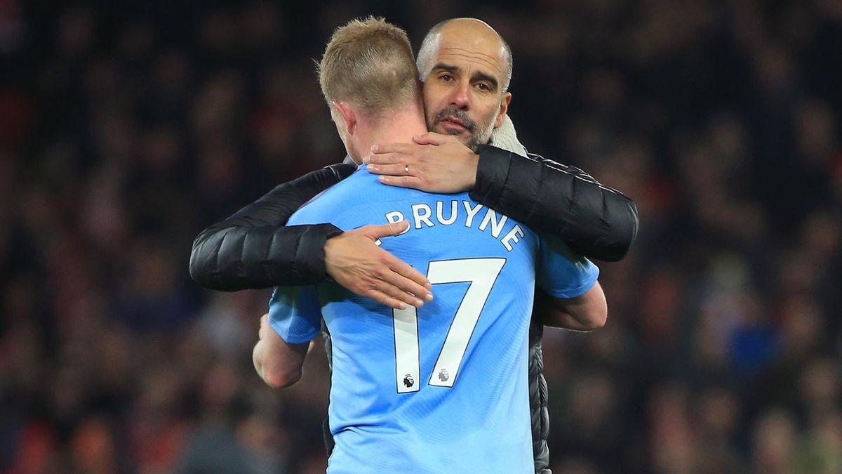 Josep Guardiola, Kevin de Bruyne, Liverpool – Manchester City