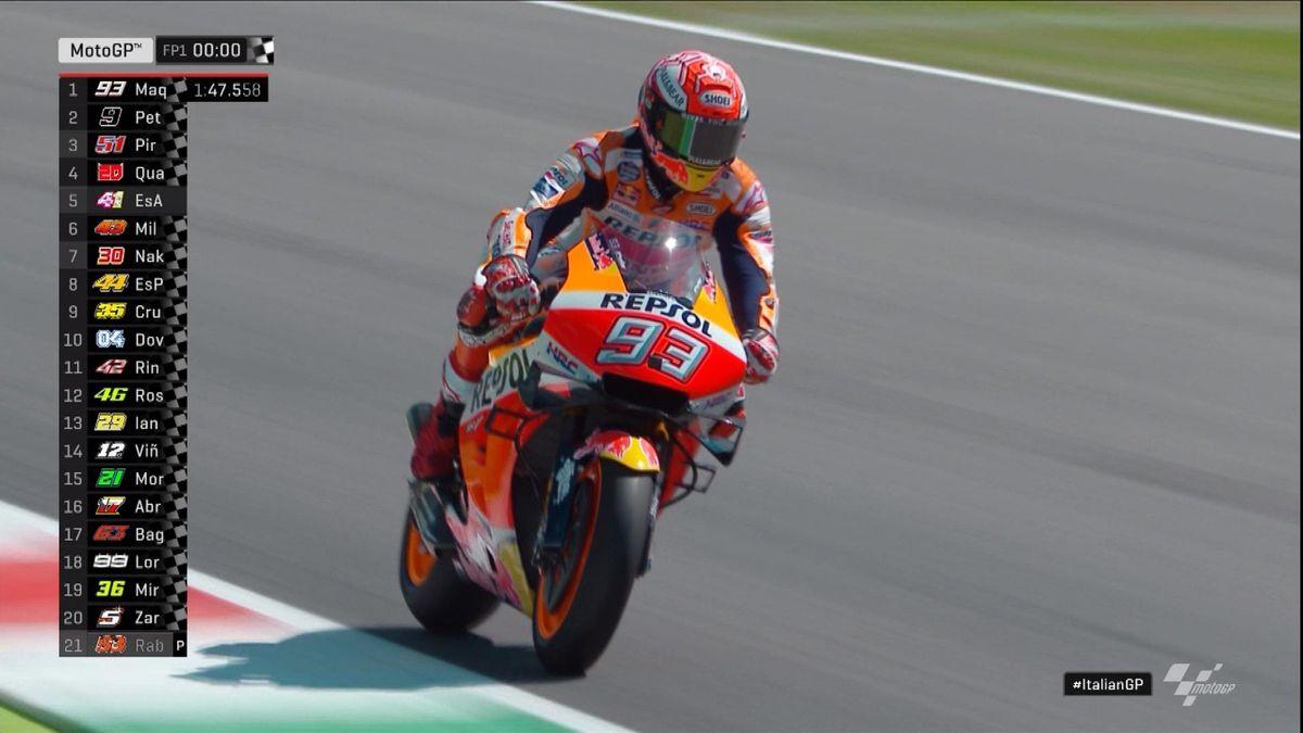 Moto GP Italy - Moto GP FP1 - Finish of the race