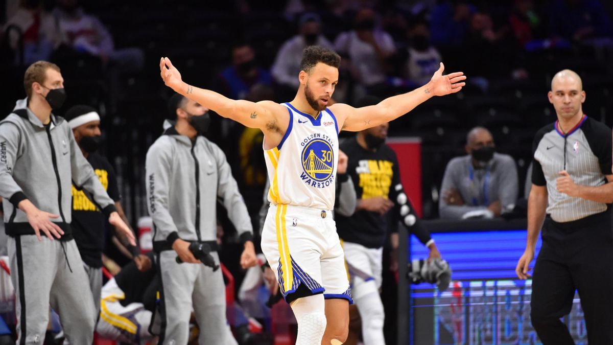 Steph Curry après son show lors de Golden State - Philadelphia Sixers en NBA
