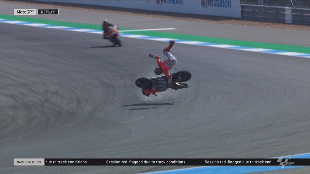 GP Thailand: Moto GP FP2 - Crash Lorenzo