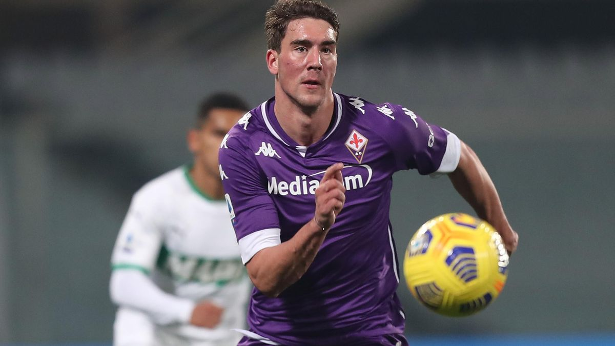 Dusan Vlahovic (Fiorentina) contro il Sassuolo