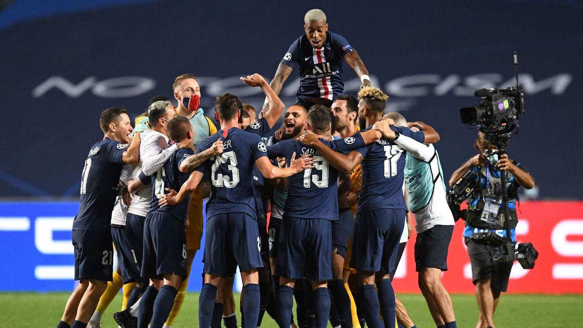 Partymodus in Lissabon: PSG nach dem Einzug ins Champions-League-Finale