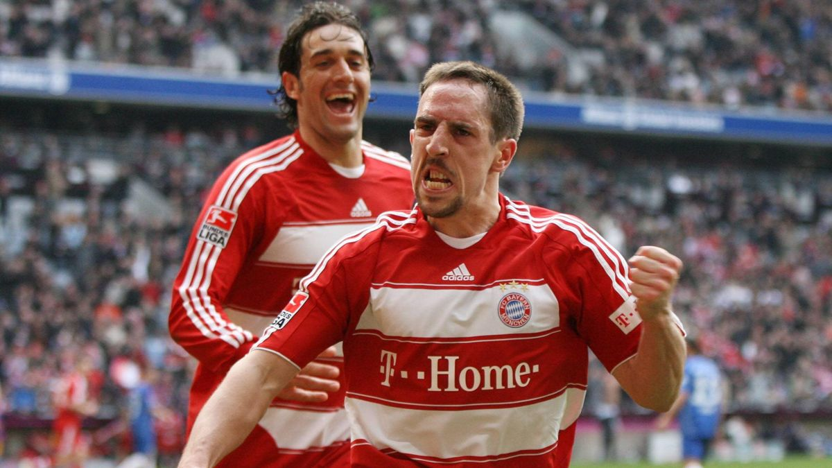 Franck Ribéry und Luca Toni