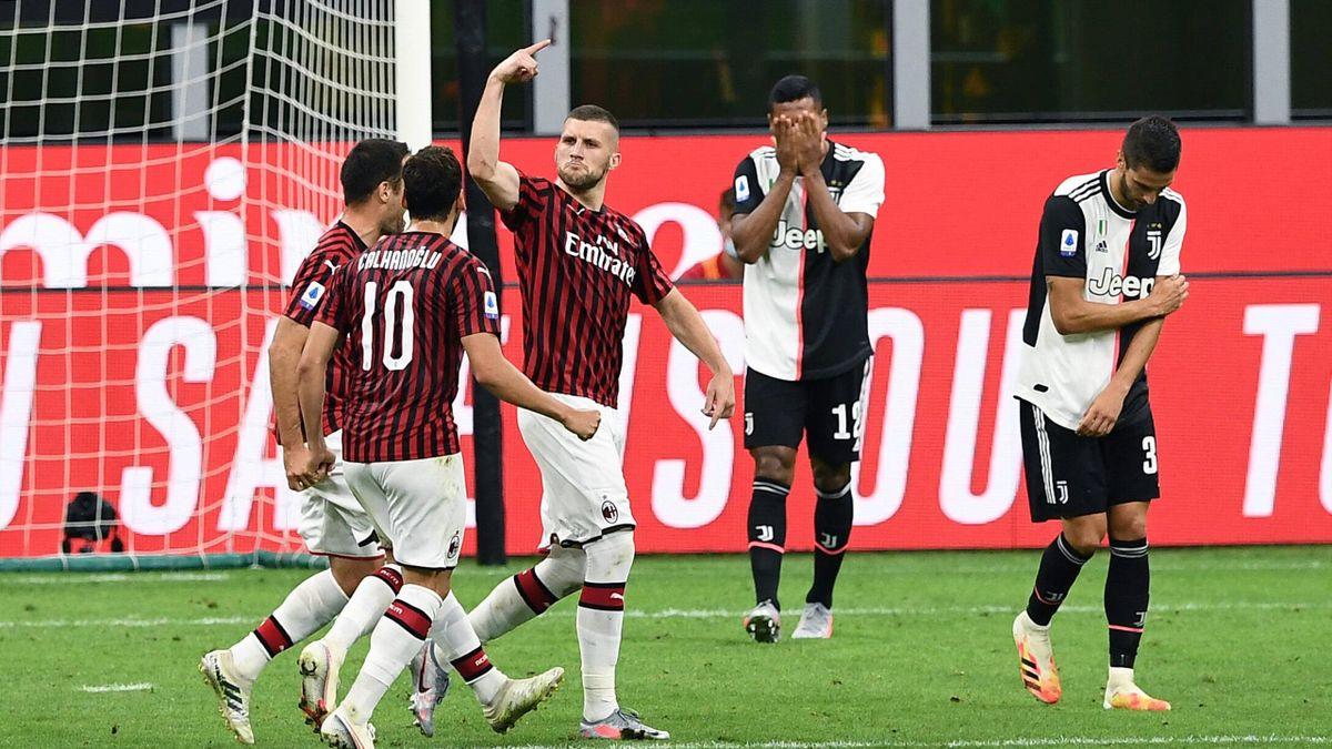 Festa Milan, delusione Juventus, Milan-Juventus, Serie A 2019-20
