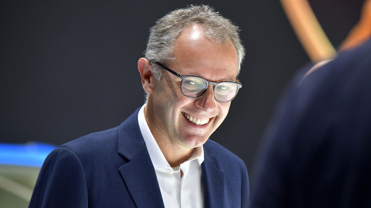Lamborghini Chairman and CEO Stefano Domenicali attends a press day at the IAA Car Show in Frankfurt, on September 10, 2019. - Frankfurt's biennial International Auto Show (IAA) opens its doors to the public on September 12, 2019