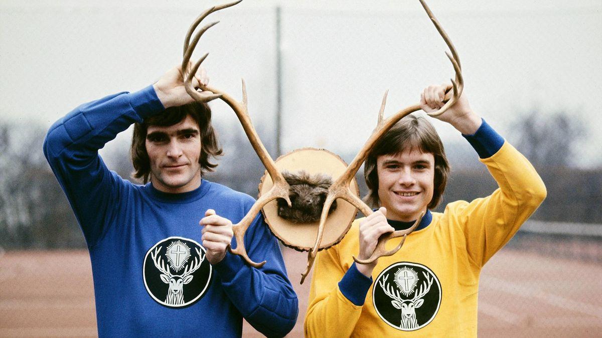 Braunschweig-Profis Franke und Konschal mit der revolutionären Werbung 1973