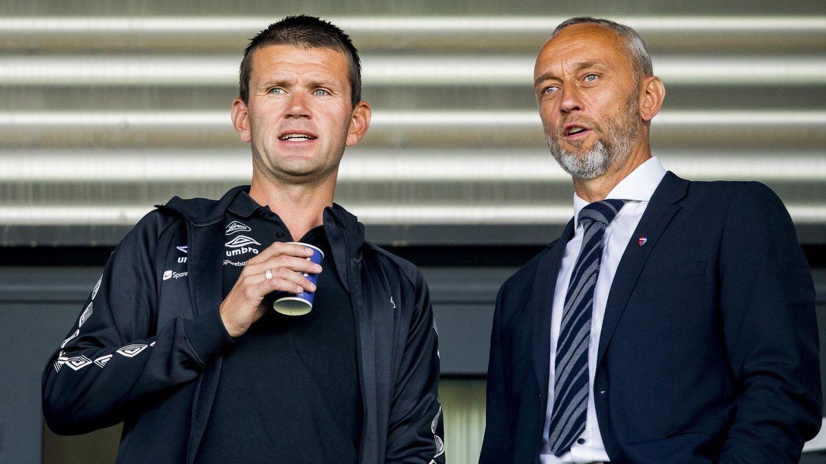 Sogndal-trener Eirik Bakke og Lars Bohinen