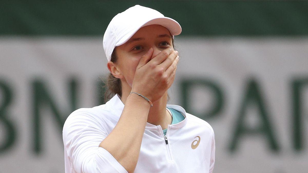 Iga Swiatek à Roland-Garros en 2020