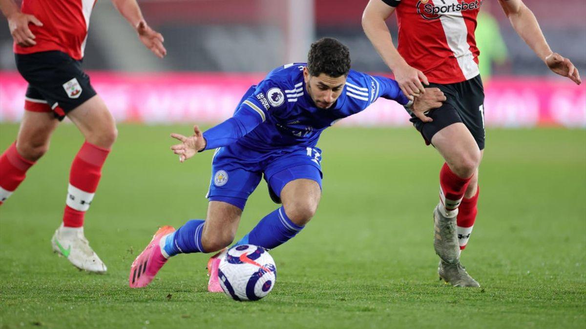 Ayoze Pérez von Leicester City im Spiel gegen den FC Southampton
