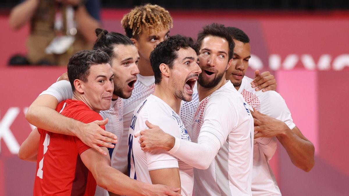 Les Bleus du volley-ball (France) qualifiés pour les quarts de finale