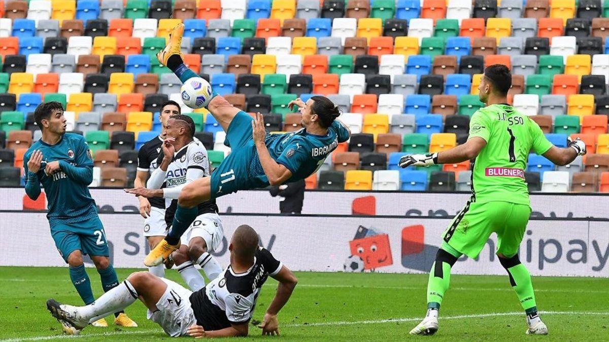 Zlatan Ibrahimovic's late stunner secures Milan win - Eurosport