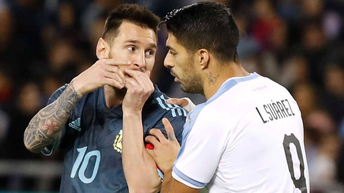 Luis Suarez, Messi - Argentina-Uruguay - Friendly 2019 - Getty Images