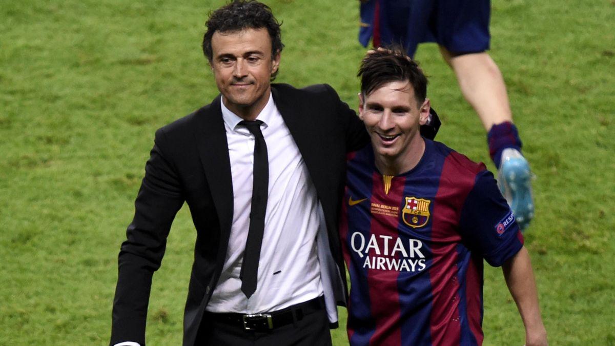 Messi y Luis Enrique