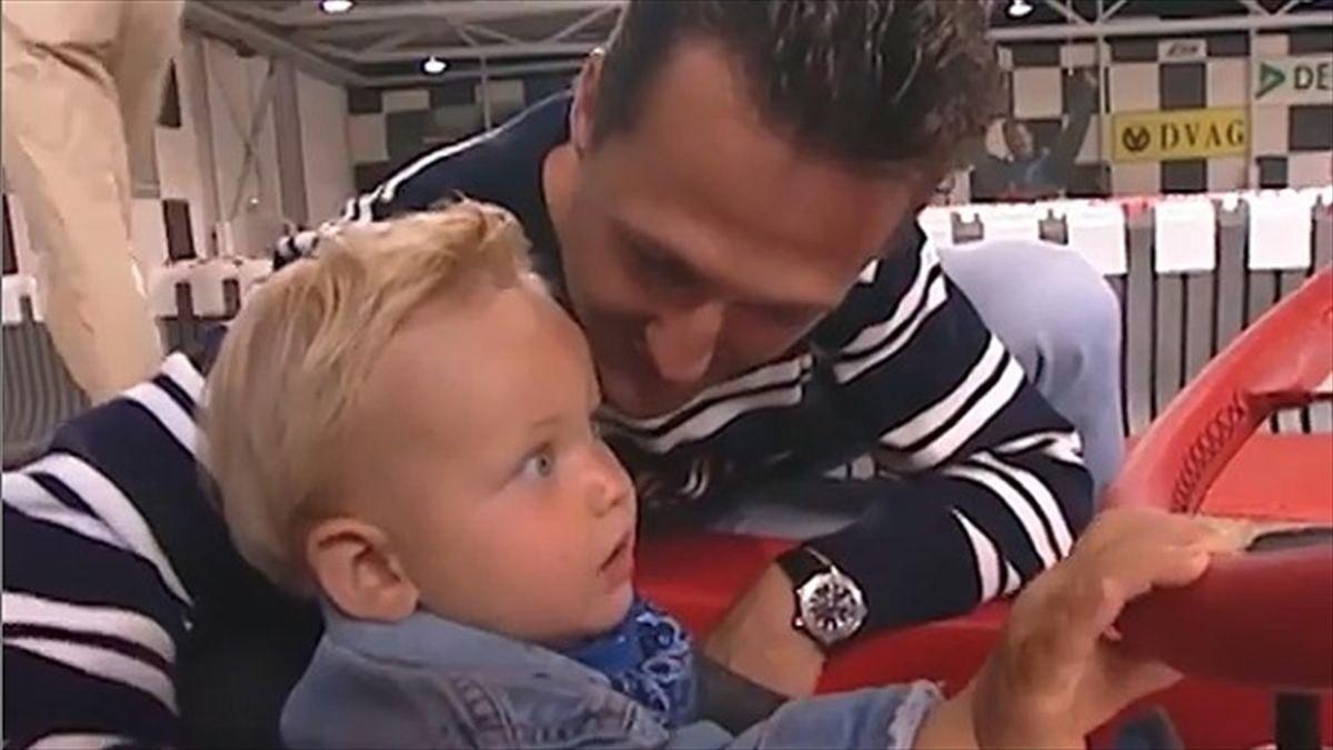 Michael und Mick Schumacher im Jahr 2000 (Instagram @F1)