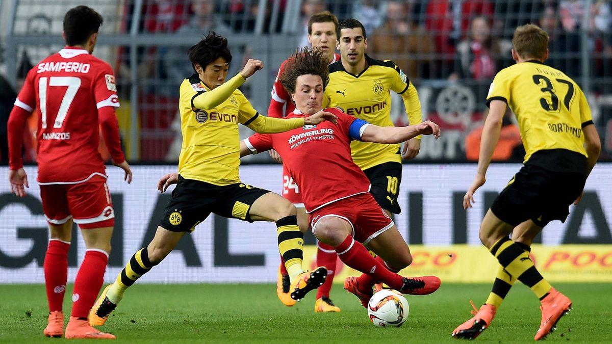 Intensives Duell: Dortmund gegen Mainz