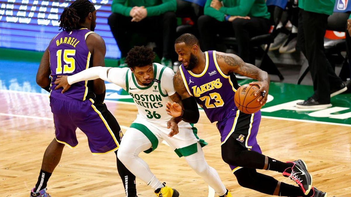 Lebron James (Lakers) contre les Celtics