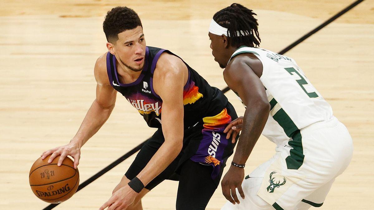 Devin Booker e Jrue Holiday, Phoenix Suns-Milwaukee Bucks, NBA Finals 2021