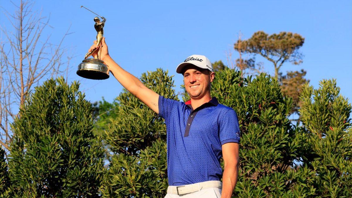 Justin Thomas nach seinem Sieg bei den Players Championships