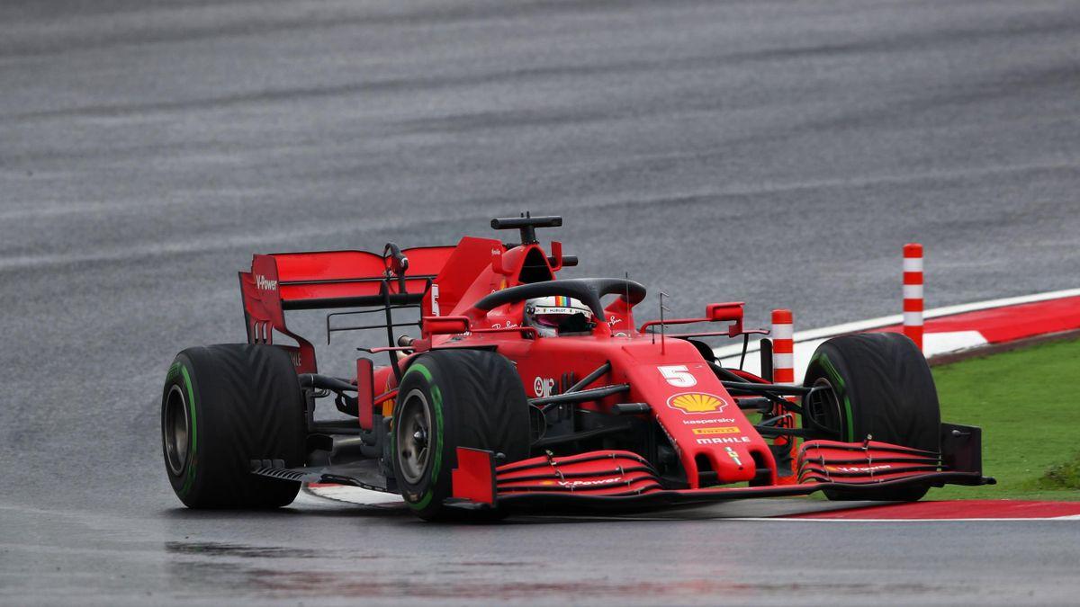 Sebastian Vettel fuhr im Ferrari beim Großen Preis der Türkei auf das Podest