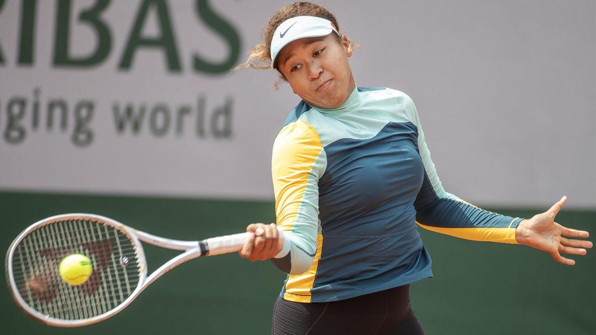 Naomi Osaka à l'entraînement avant Roland-Garros en 2021