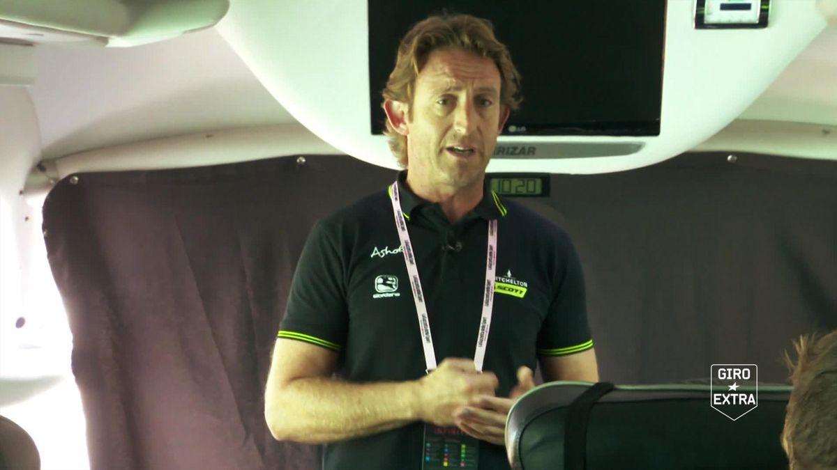 Cycling  - Giro Italia - IMtchelton-Scott Team Talk