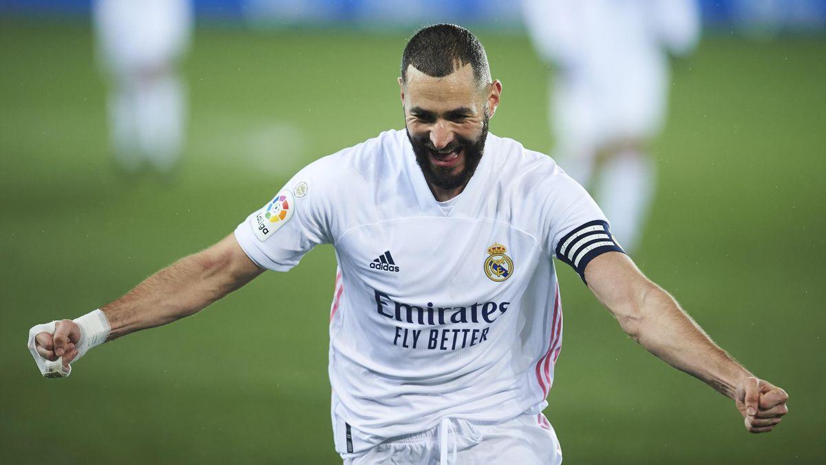 Karim Benzema, l'attaquant français du Real Madrid.