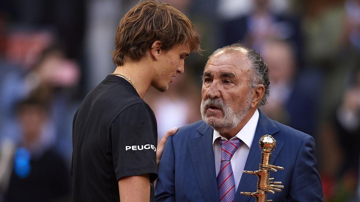 Alexander Zverev und Ion Tiriac bei den Madrid Open