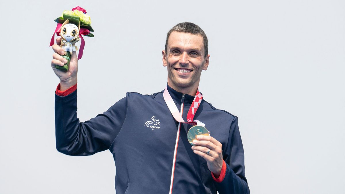 Alexis Hanquinquant, champion paralympique de para triathlon à Tokyo.