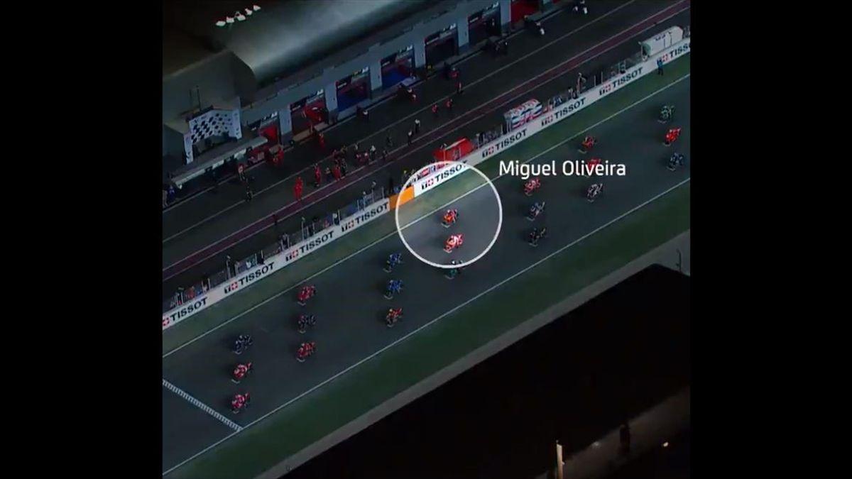 Partenza-fionda per Miguel Oliveira: da 12° a 3°