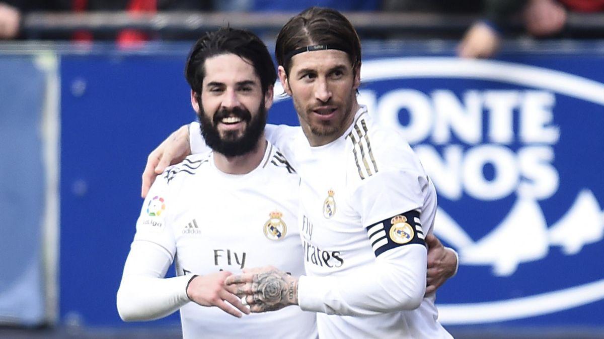 Isco Alarcón y Sergio Ramos (Real Madrid)