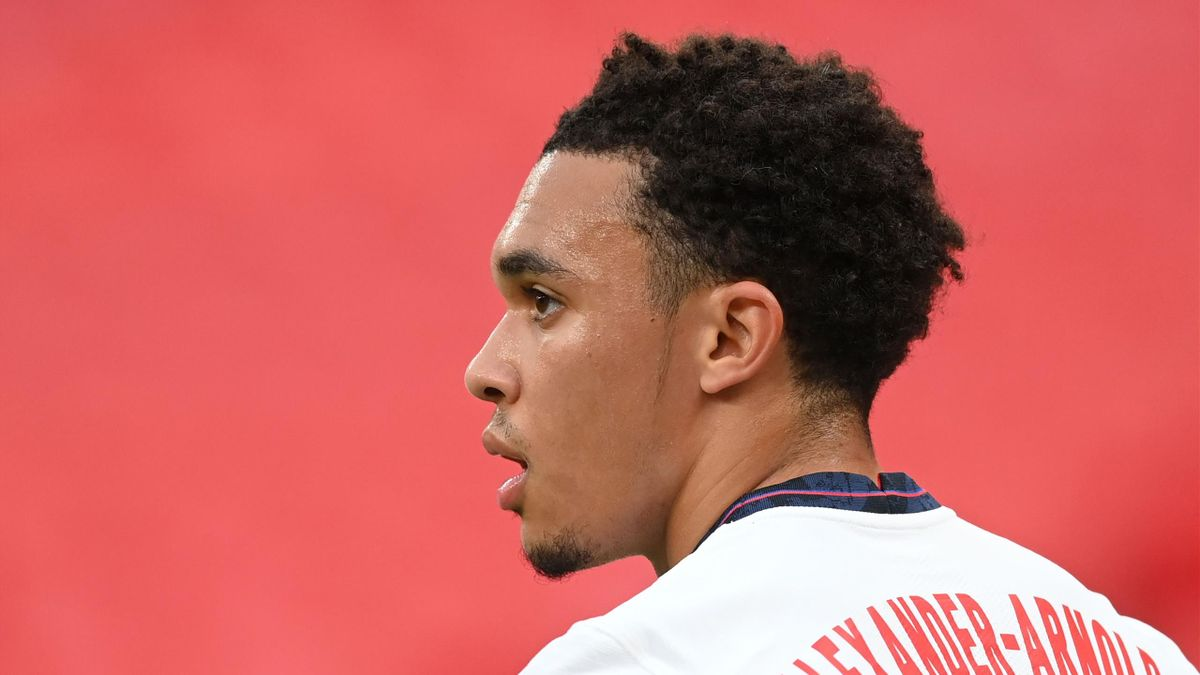England's defender Trent Alexander-Arnold reacts during the UEFA Nations League group A2 football match between England and Belgium at Wembley stadium in north London on October 11, 2020