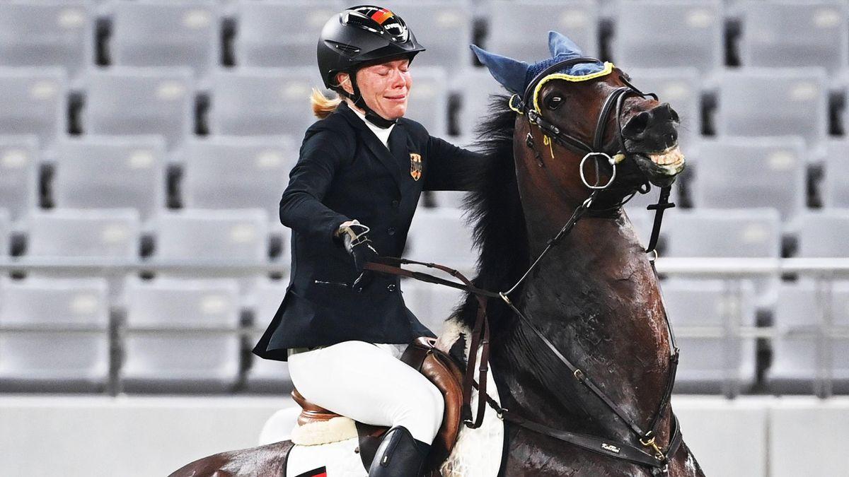 Annika Schleu bei den Olympischen Spielen in Tokio