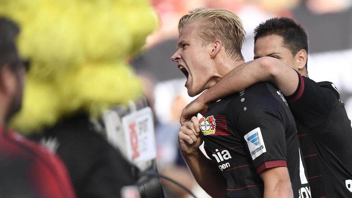Joel Pohjanpalo schießt Bayer Leverkusen mit drei Toren zum Sieg gegen den HSV