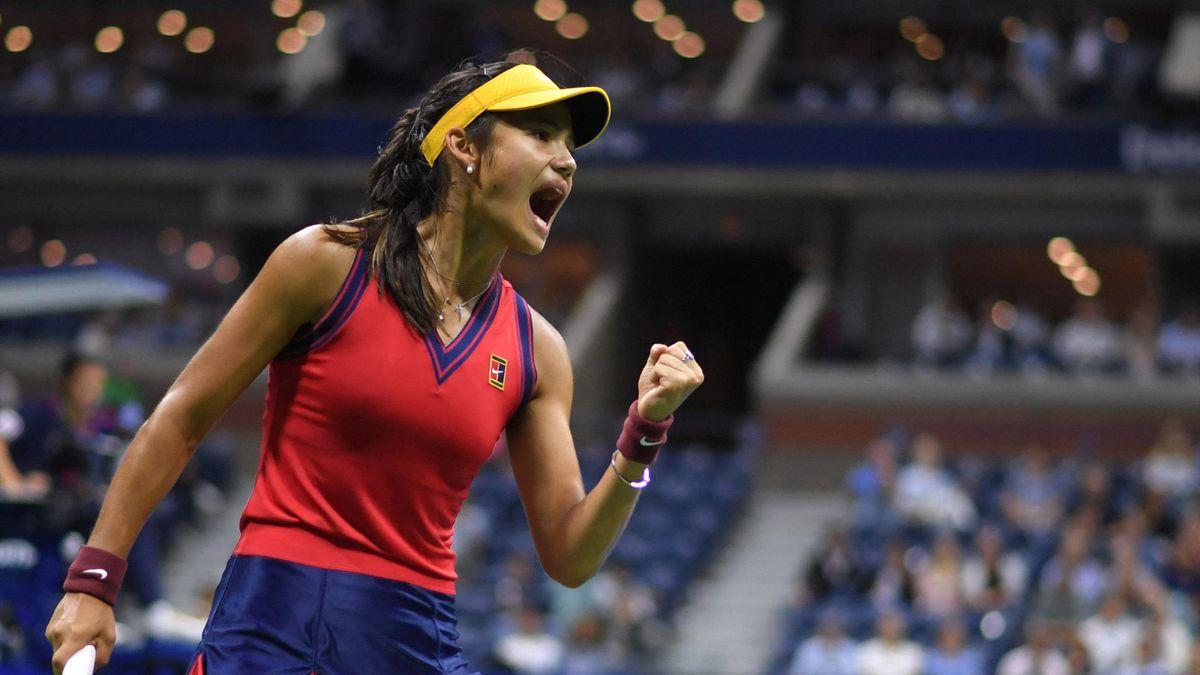 Emma Raducanu bei den US Open