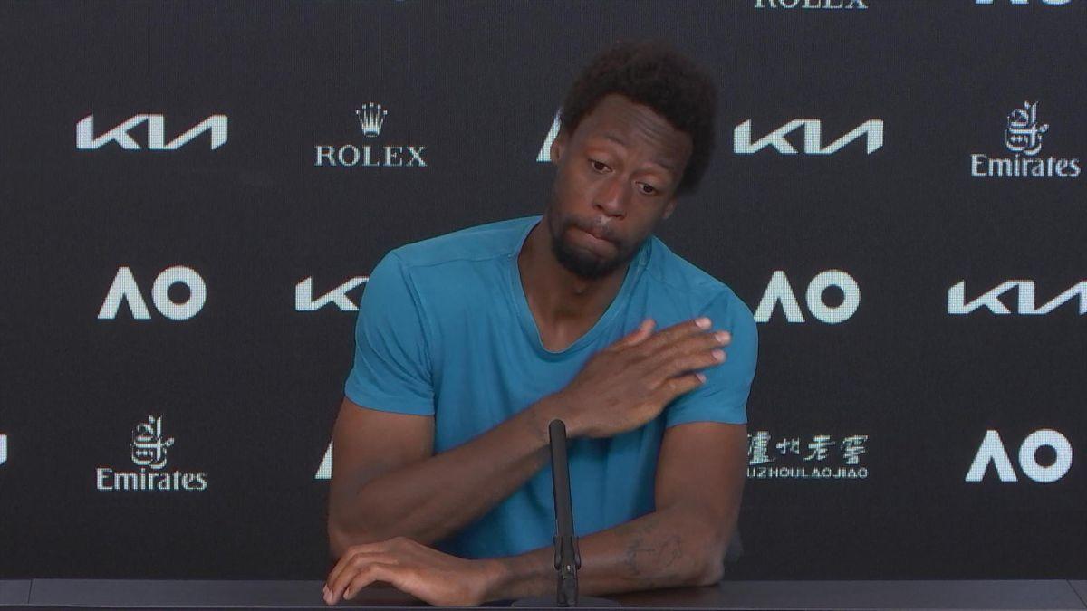 Australian Open - Monfils cry in press conf