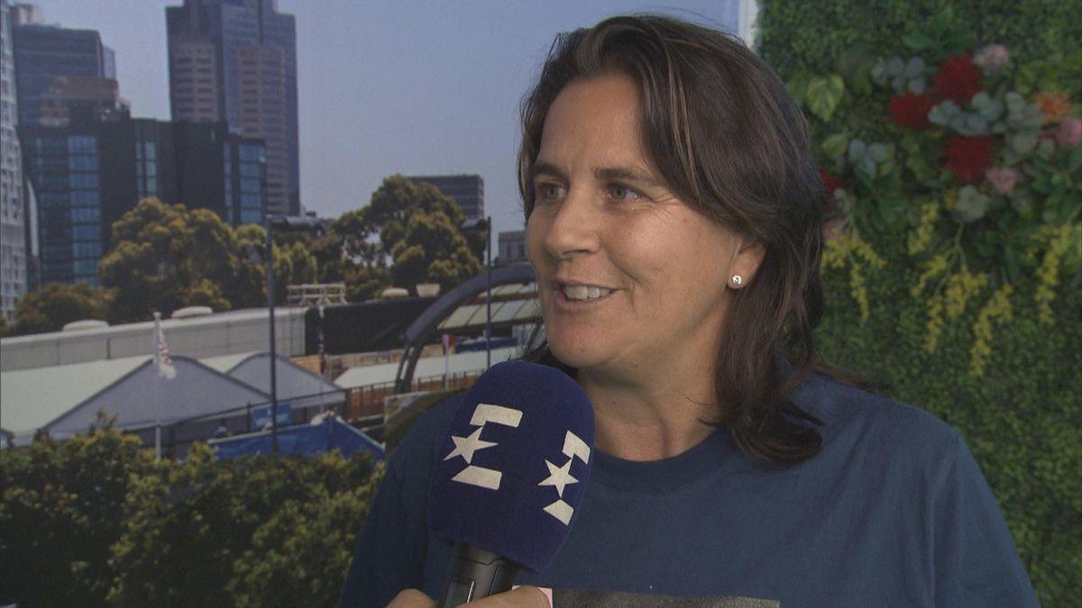Australian Open - Conchita MARTINEZ, coach of Garbine MUGURUZA interview (ES)