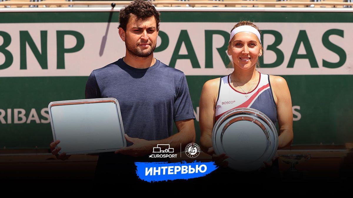 Аслан Карацев и Елена Веснина