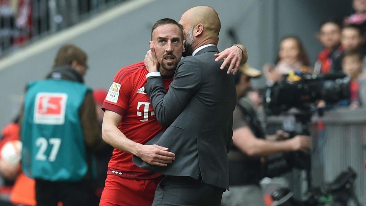 Franck Ribéry et Pep Guardiola