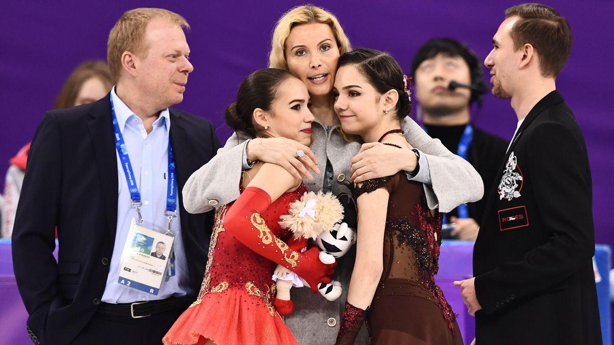 Алина Загитова, Евгения Медведева и Этери Тутберидзе