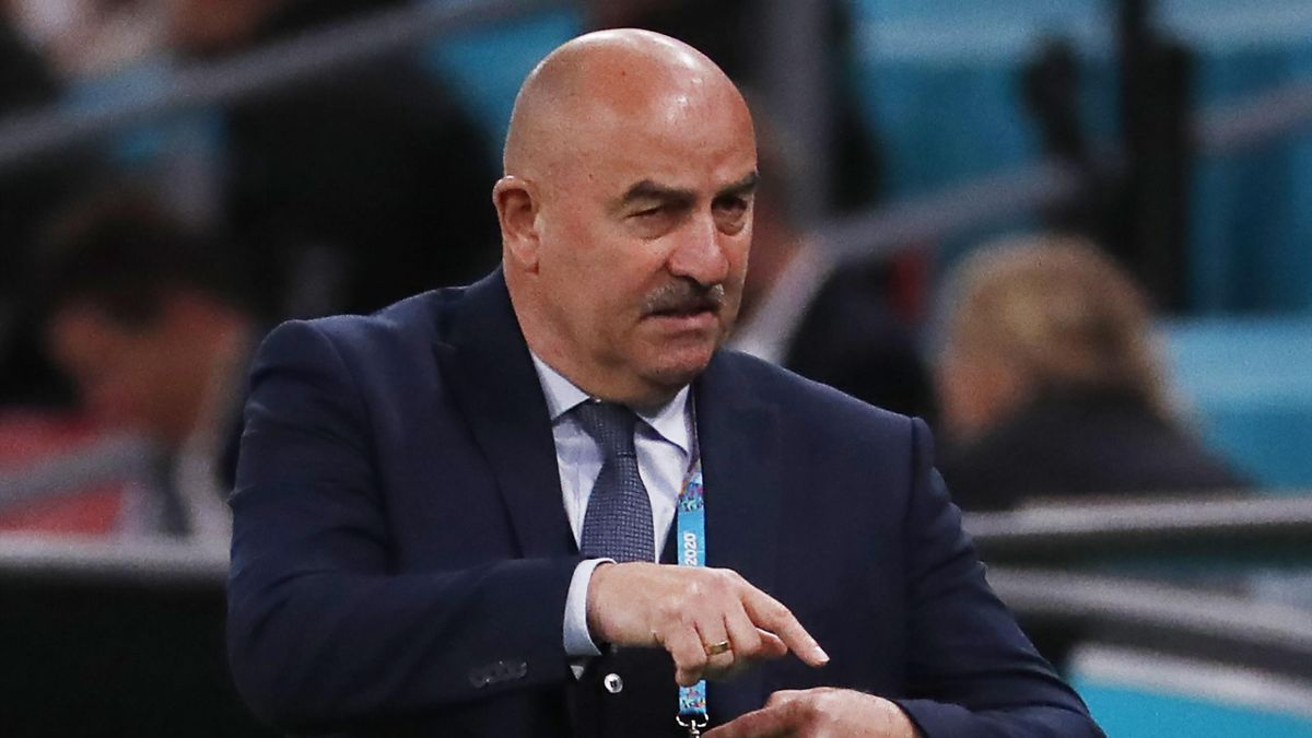 Станислав Черчесов, Россия – Дания, Евро-2020