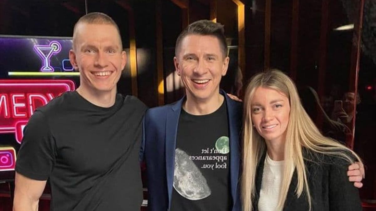 Александр Большунов, Тимур Батрутдинов и Анна Жеребятьева