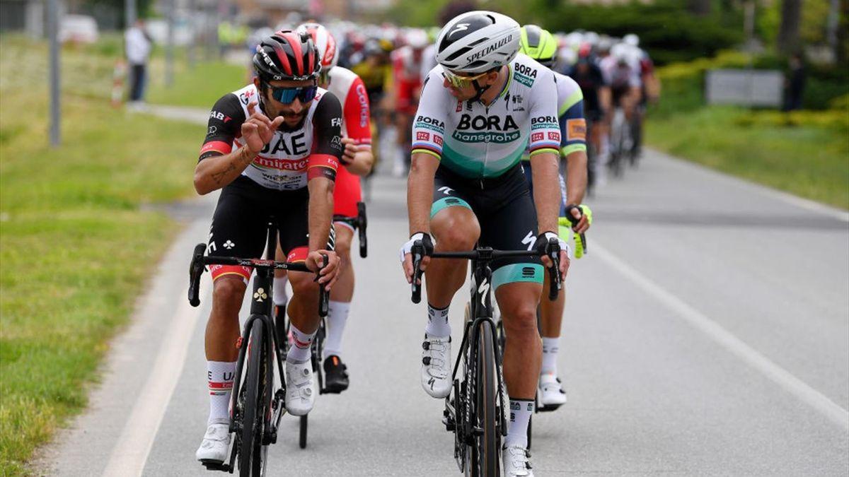 Peter Sagan a colloquio con Gaviria - Giro d'Italia 2021 - Getty Images