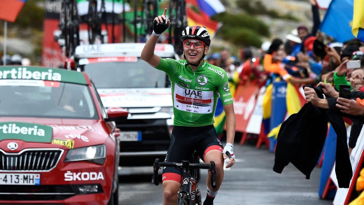 Tadej Pogacar (Team UAE Emirates) vainqueur de la 20e étape du Tour d'Espagne 2019