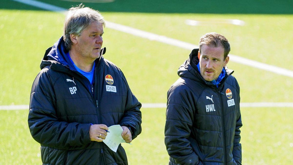 Trenerene Bjørn Petter Ingebretsen og Håkon Wibe-Lund