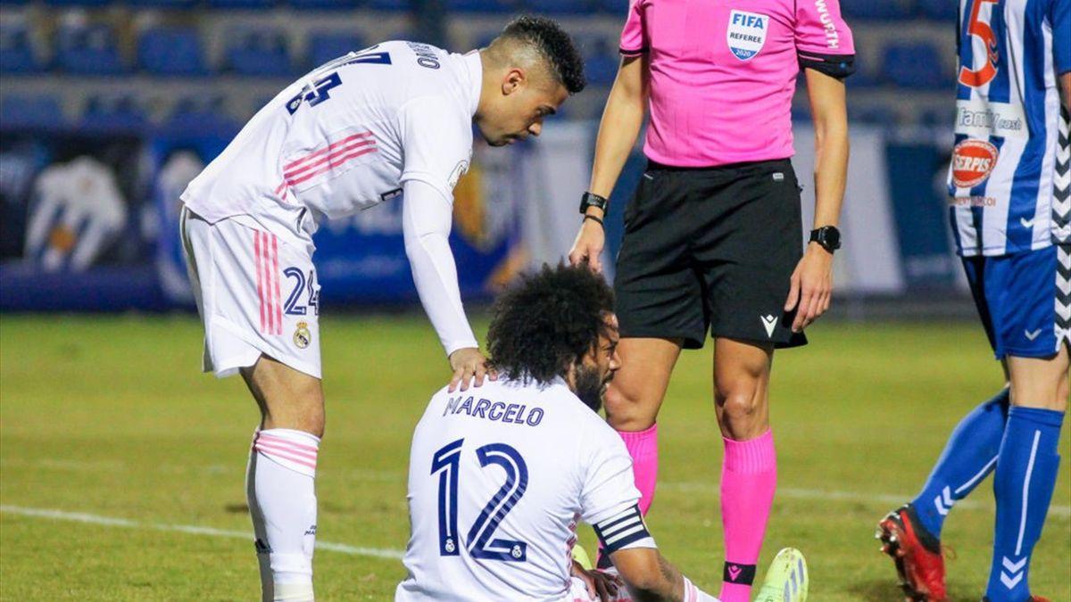 Марсело в матче против «Алькояно»