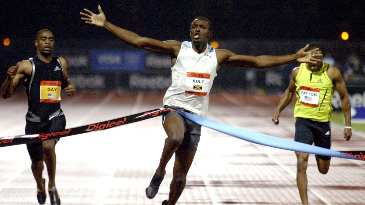 Usain Bolt läuft Weltrekord am 31.5.2008 in New York