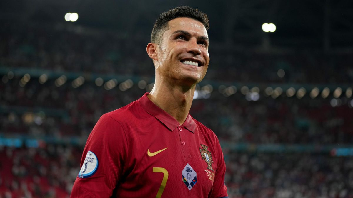 Cristiano Ronaldo of Portugal reacts following the UEFA Euro 2020 Championship Group F match between Portugal and France at Puskas Arena on June 23, 2021 in Budapest, Hungary