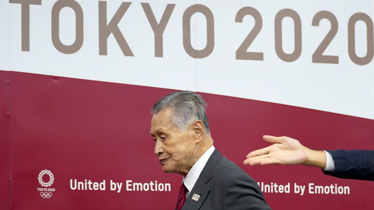 Yoshiro Mori, président démissonnaire de Tokyo-2020, lors d'une conférence de presse le 10 juin 2020 à Tokyo