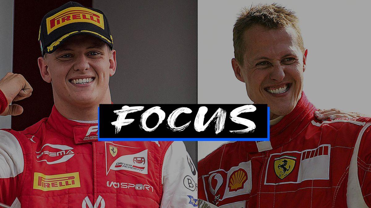 Mick Schumacher correrà in Formula 1, 9 anni dopo l'ultima apparizione del papà Michael Schumacher in Formula 1, Getty Images