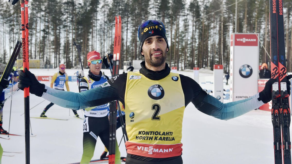 Martin Fourcade wins the last race of his carreer for a all-french podium